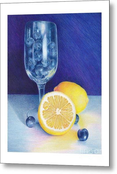 Lemon Blueberry Muffins Metal Print