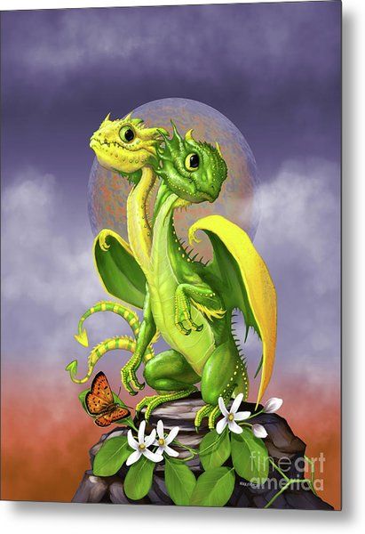 Lemon Lime Dragon Metal Print
