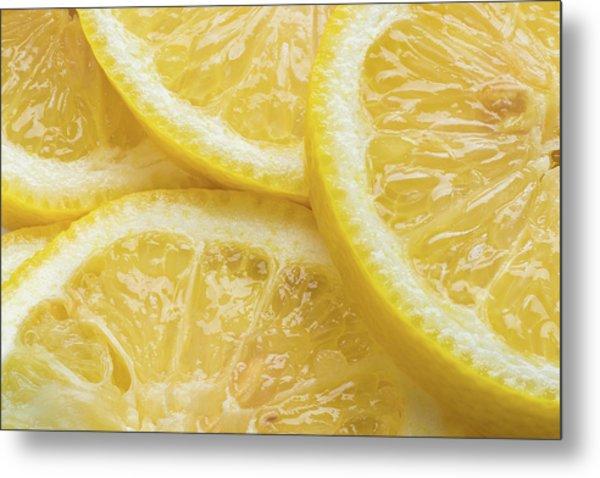 Lemon Slices Number 3 Metal Print
