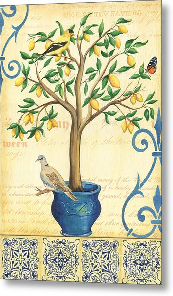 Lemon Tree Of Life Metal Print