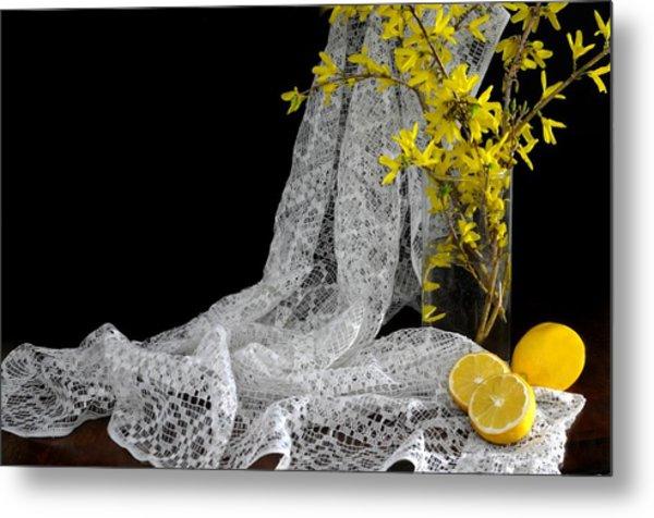 Lemons'n Lace Metal Print