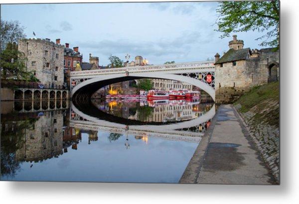 Lendal Bridge Reflection  Metal Print