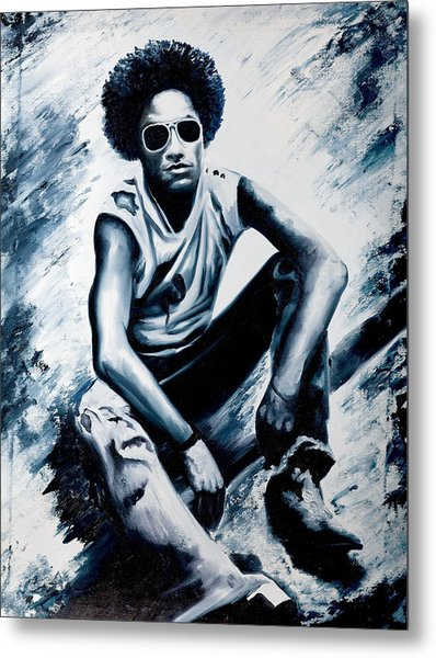 Lenny Kravitz Metal Print by Jocelyn Passeron