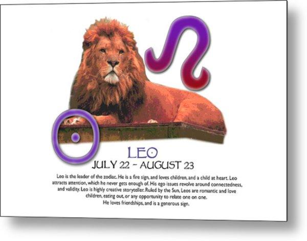 Leo Sun Sign Metal Print