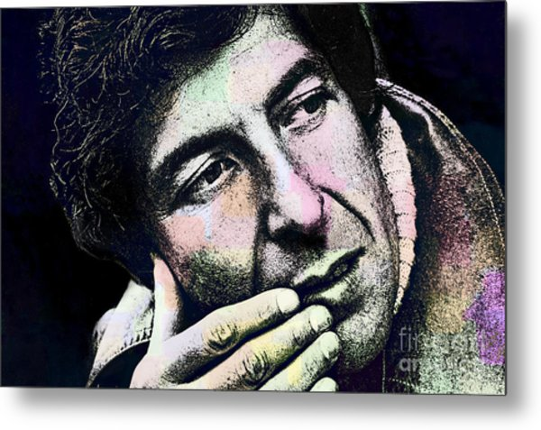 Leonard Cohen - Drawing Tribute Metal Print