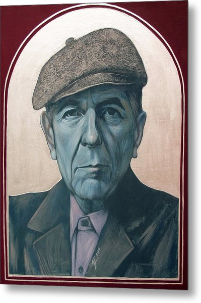 Leonard Cohen Metal Print by Jovana Kolic