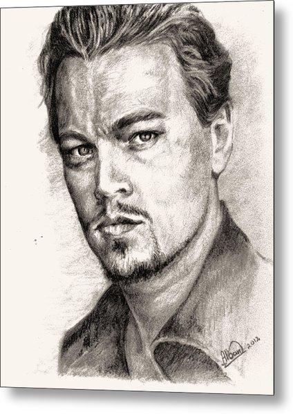 Leonardo Dicaprio Portrait Nr.2 Metal Print