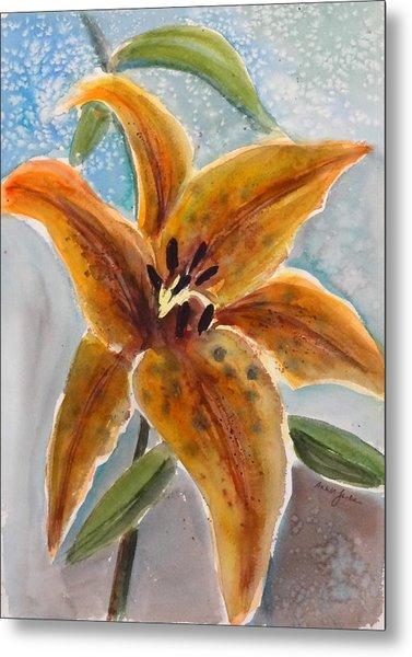 Leopard Lily Metal Print