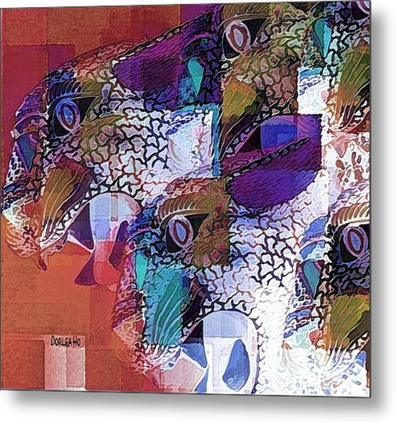 Leopards Metal Print