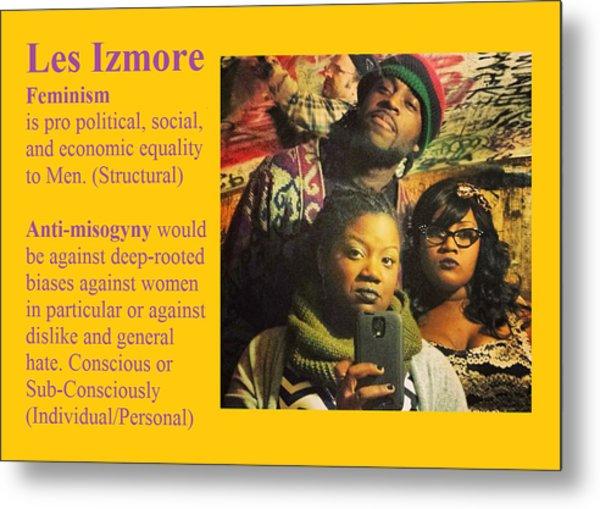 Les Izmore Feminism Metal Print