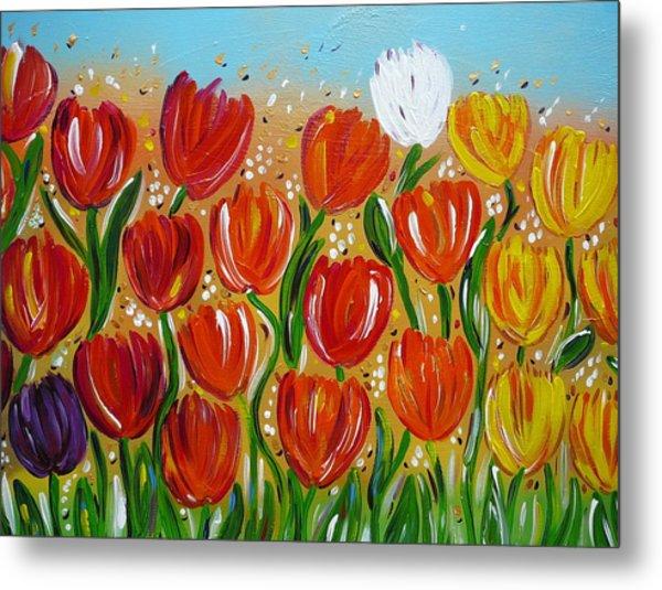 Les Tulipes - The Tulips Metal Print