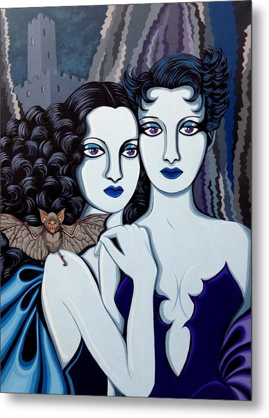 Les Vamperes Bleu Metal Print