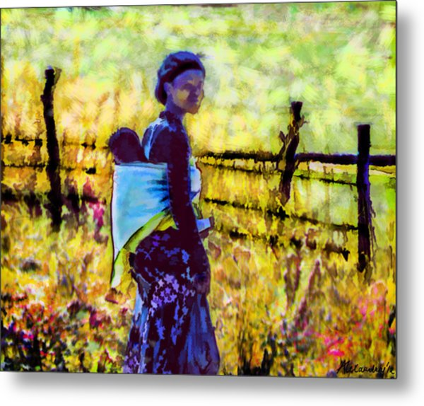 Lesotho Woman Metal Print