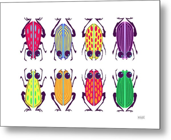 Less-than-creepy Crawlies Metal Print