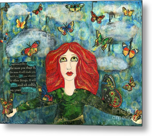 Lessons From A Butterfly Metal Print