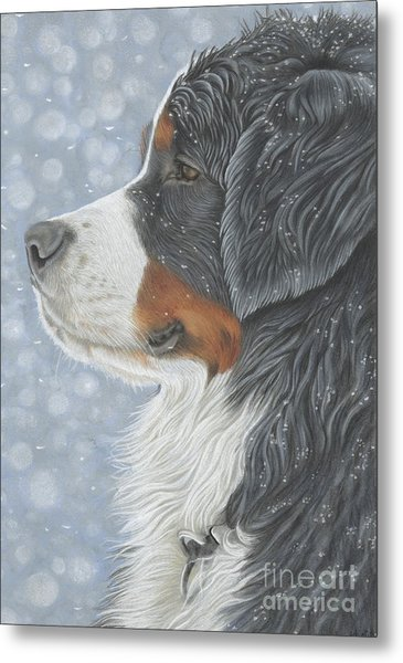 Metal Print featuring the painting Let It Snow by Donna Mulley