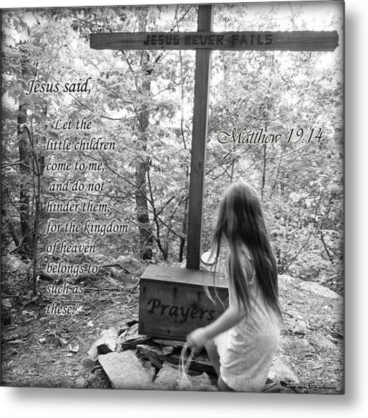 Let The Children Come To Me ... Matthew Nine Fourteen Metal Print by Angelica -Gel Studios