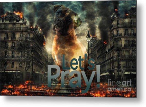 Let Us Pray-2 Metal Print