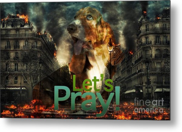 Let Us Pray Metal Print