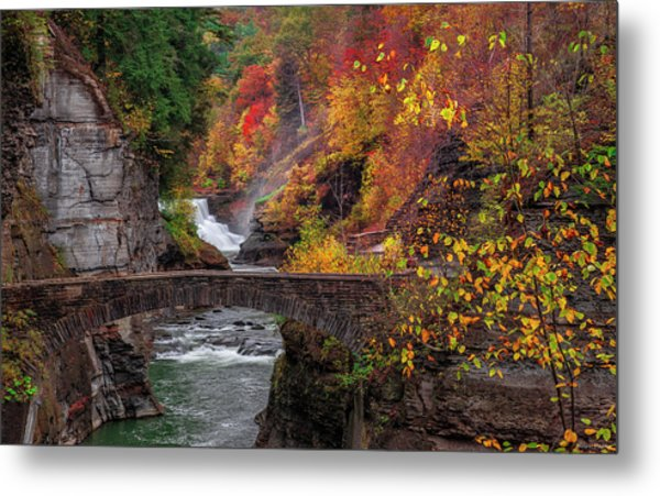 Letchworth Lower Falls Metal Print