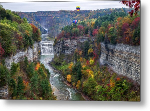Letchworth Middle Falls Metal Print