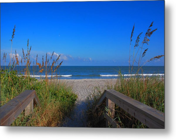Lets Go To The Beach Metal Print