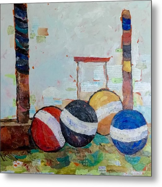 Let's Play Croquet Metal Print