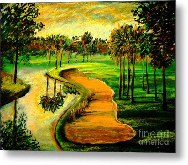 Let's Play Golf Metal Print