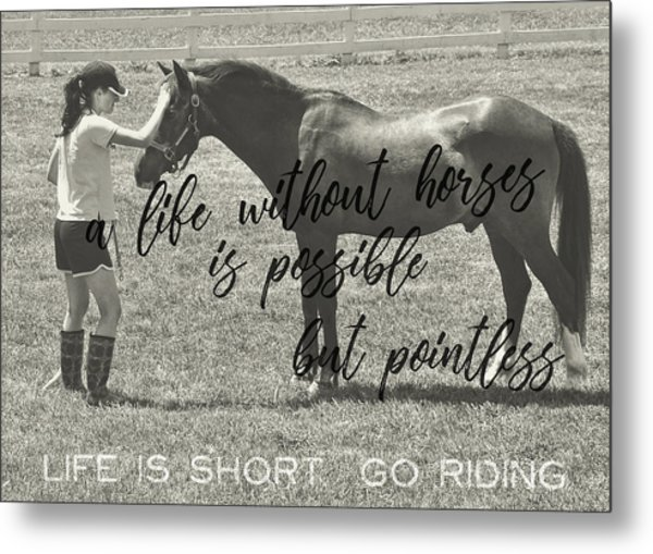 Let's Ride Quote Metal Print
