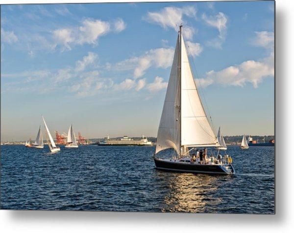 Lets Sail Metal Print by Tom Dowd