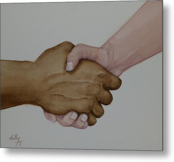 Let's Shake Hands On It Metal Print