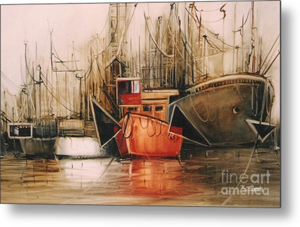 Let's Travel.... Metal Print by Fatima Stamato