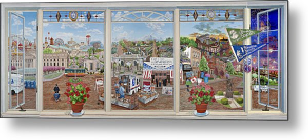 Letter Carriers Picture Window Of Brooklyn Metal Print