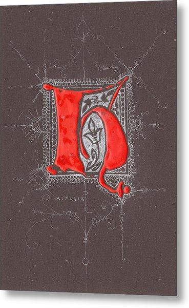 Letter H Metal Print by Kristine Jansone