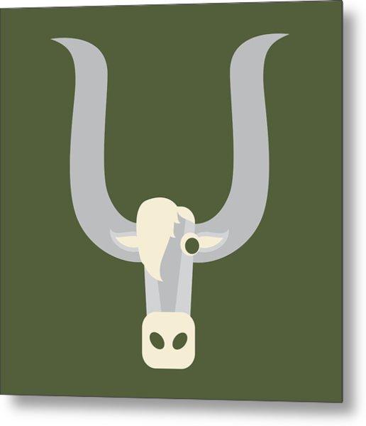 Letter Y - Animal Alphabet - Yak Monogram Metal Print