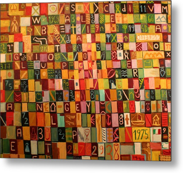 Letters And Numbers Metal Print by Biagio Civale