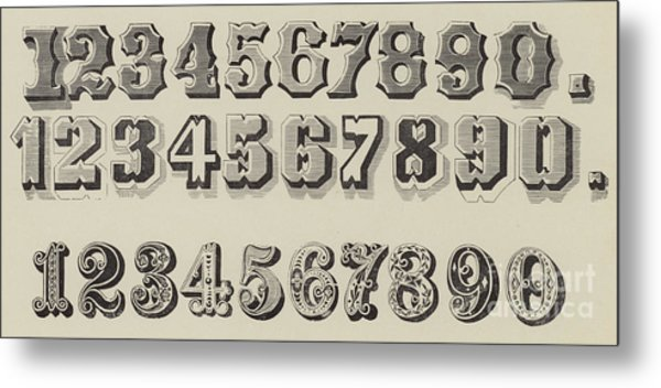 Letters And Numbers Metal Print