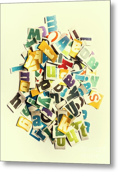 Letters In Jumble Metal Print