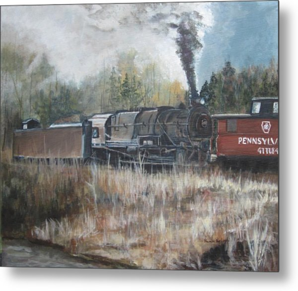 Letting Off Steam Metal Print