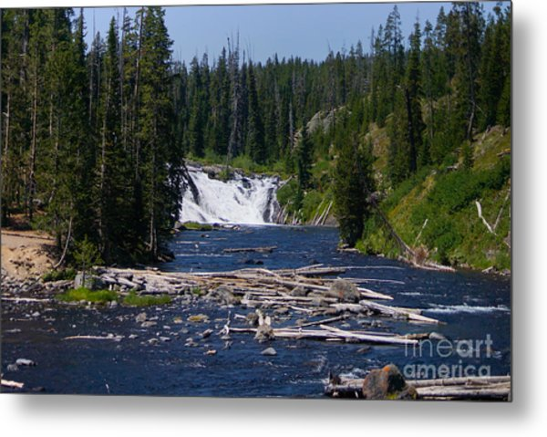 Lewis Falls Yellowstone Metal Print