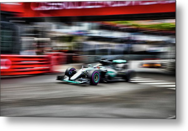 Lewis Hamilton Mercedes Formula 1 Metal Print
