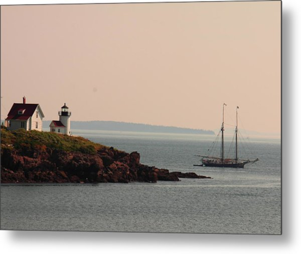 Lewis R French At The Curtis Island Lighthouse Metal Print