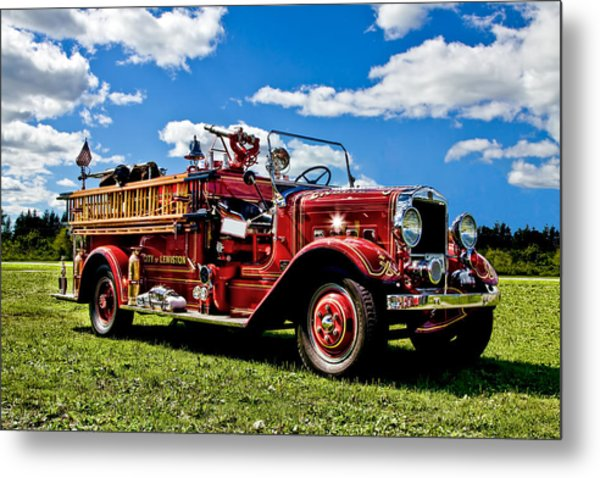 Lewiston Fire Truck Metal Print