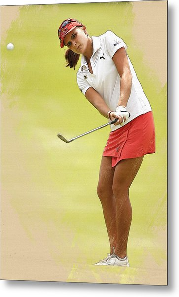 Lexi Thompson Chips To The First Green  Metal Print
