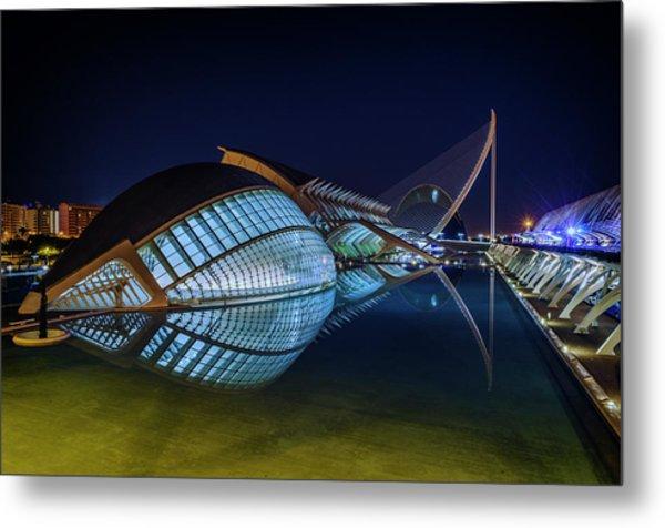L'hemisferic In Valencia Metal Print