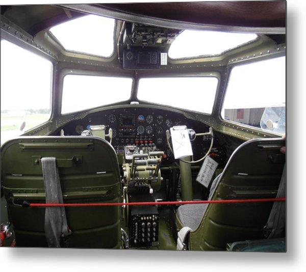 Liberty Belle B17 Cockpit Metal Print