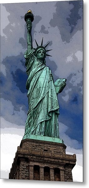 Liberty Poster Metal Print by William  Todd