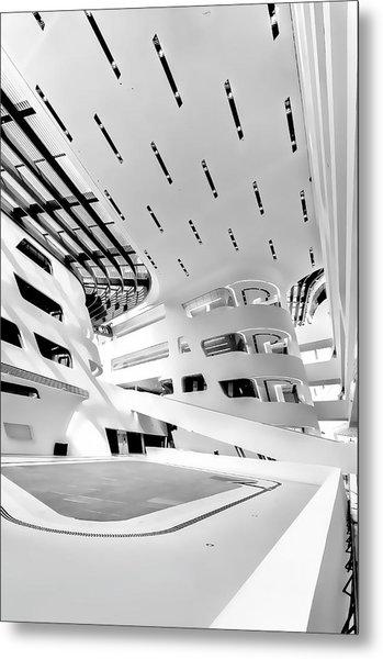 Metal Print featuring the photograph Library Interior 3 Zaha Hadid Wu Campus Vienna  by Menega Sabidussi