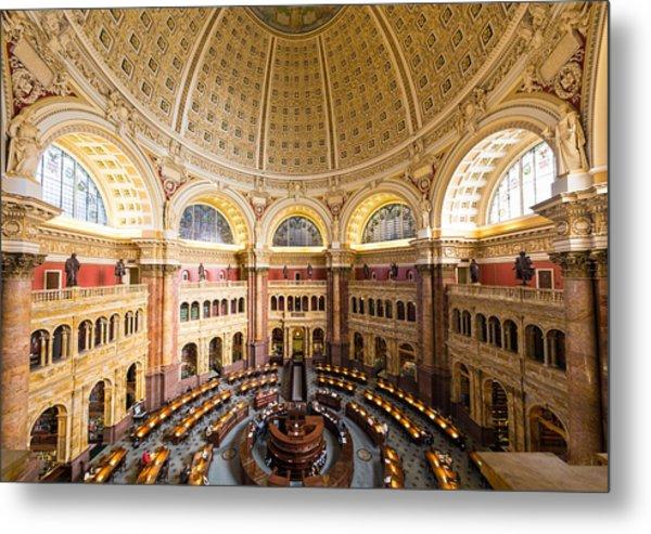Library Of Congress I Metal Print by Robert Davis