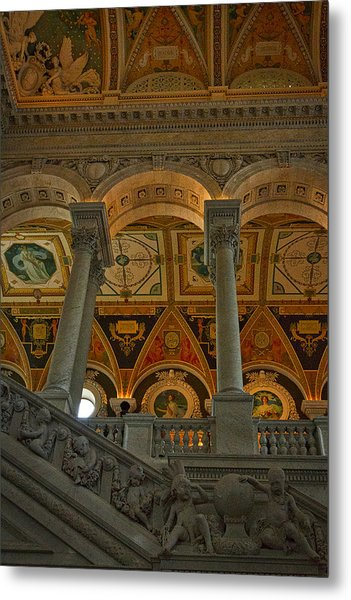 Library Of Congress Staircase Metal Print